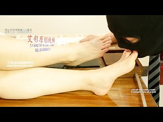 Asian foot worship Chinese foot feed