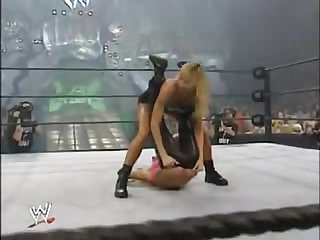 Trish startus vs stacy keibler bra panties