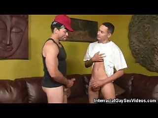 Interracial men encounter blowjobs