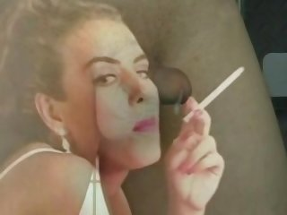Sissy training cock worship hypno by a sexy smoking girl