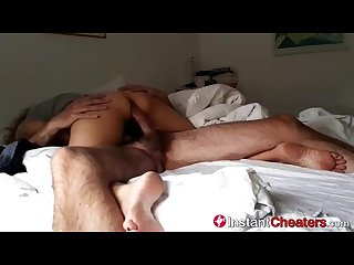 Amateur cheating wife takes morning cum load