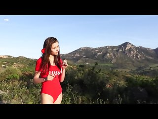 Glam girl mila azul takes off her clothes