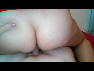 Christmas mom blowjob sex and creampie mom and step son