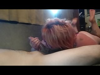 Hot wife throat pied and makes a mess