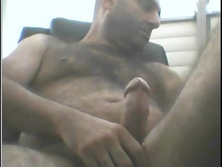 Hairy Turkish man solo