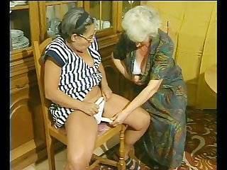 Two grannys discover the joys of a vibrator