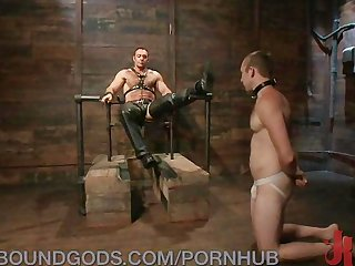 Bondage boy gets wrecked