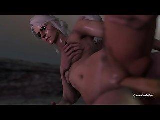 Ciri Geralt welcome back fuck
