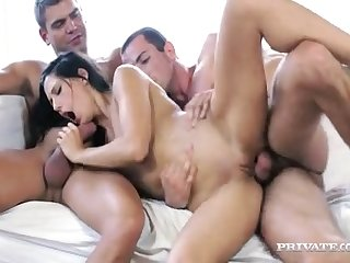 Alexa tomas and juan lucho have a hot threesome