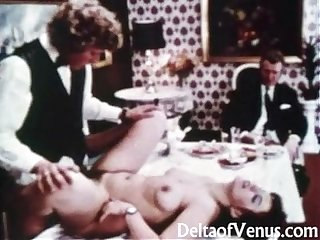 Vintage porn 1970s table for three