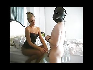 Milking his prostate female domination
