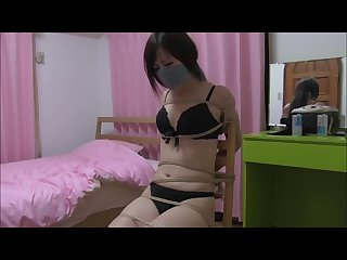 Japanese Damsel Hogtied and Chair Tied