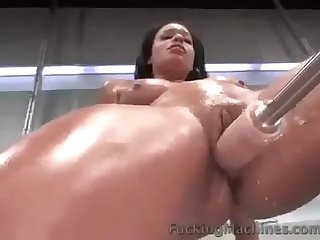 Fucking machine squirting compilation