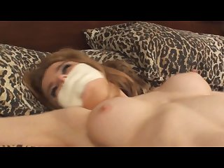 Candle boxx tape gagged spread bondage