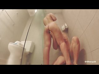 Creamin her while she squirts shower yes daddy i m your slave daddy
