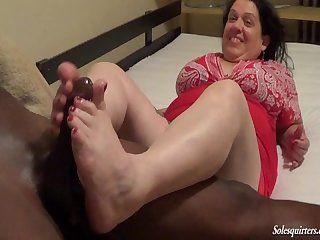 Jewish neighbor footjob