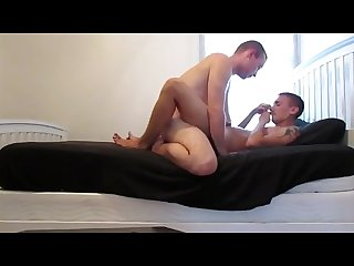 Gay friends barebacking in home