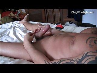 Jerking off to pornhub Vids to hard hands free orgasm and cumshot