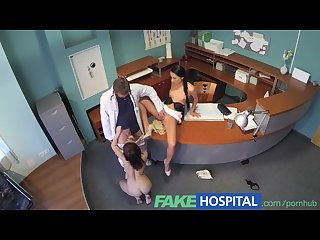 Fakehospital doctor enjoys both nurse and patient sucking and fucking his C