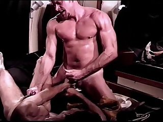 Cbt mutual ball busting and jackoff session between two hot muscular dudes