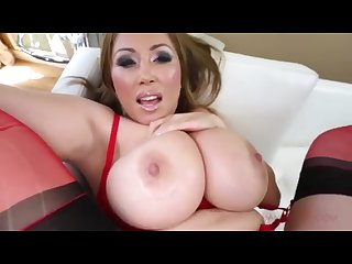 Kianna dior in red lingerie