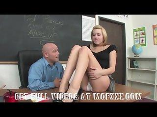 Naughty school girl punished