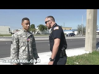 Gay patrol Aggressive cops take down fake soldier and lay down the law