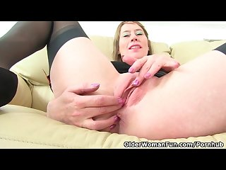 british milf sexy p feels so naughty today in black stockings