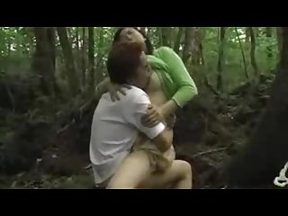 Mature woman kissing and fucking young guy