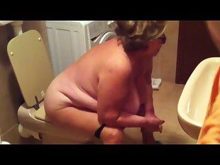 Gassy granny Toilet
