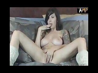 Ivy snow plays with herself