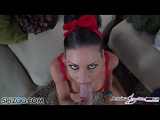 Jessica Jaymes gets down on her knees and suck your big hard dick,big boobs