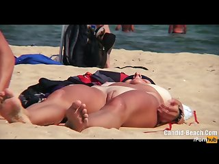 Candid beach spy video beach voyeur Hd