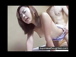 Japanese daughter hard fucked