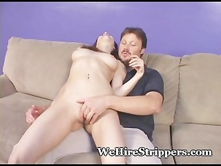 Exotic teen s mouth filled by older guy
