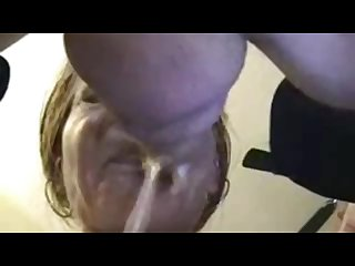 Sloppiest throat fuck n cum with prostate milking