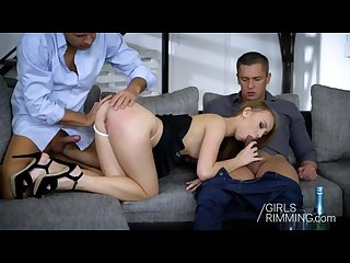 Kira Thorn - Rimming and DP - Girls Rimming