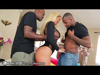 Ryan conner Dp by 2 massive black cocks