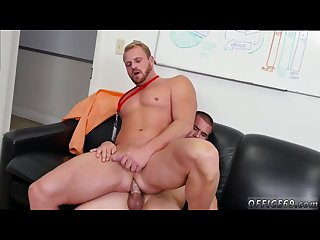 Straight boys molested gay porn first day at work