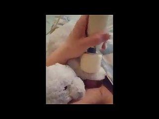 Teddy helps me reach cummies