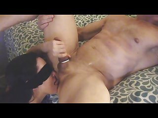 Ball sucking, dick stroking & ass licking Milf