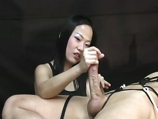 Femdom handjob by niya yu