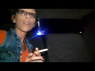 Hot redhead gives blowjob while being pulled over by cop