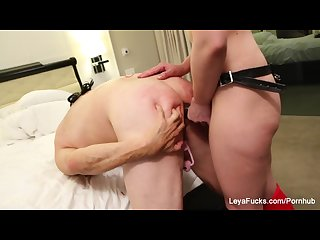Leya ball busts sissy jessica then fucks his ass