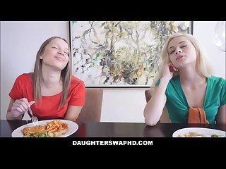 Two dad s swap hot teen daughters