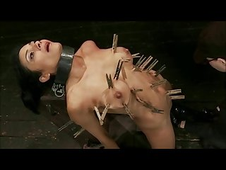 Beautiful brunette tortured pt2
