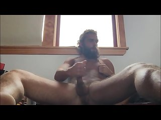 Hairy hippy cums for us