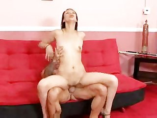 Beautiful exotic babe takes a big dick