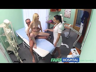 Fakehospital doctor and nurse team up and pleasure married patient