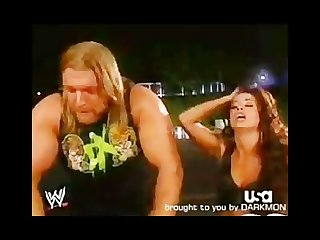 Triple H Candice Michelle funny Backstage of wwe